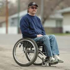 Man in Wheelchair without Arms