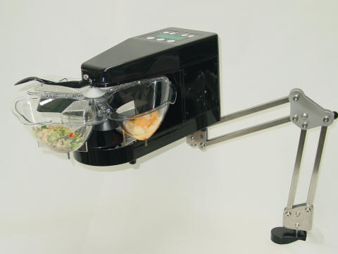 The Mealtime Partner Mounted on Support Arm