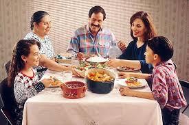 People Enjoying  Mealtime