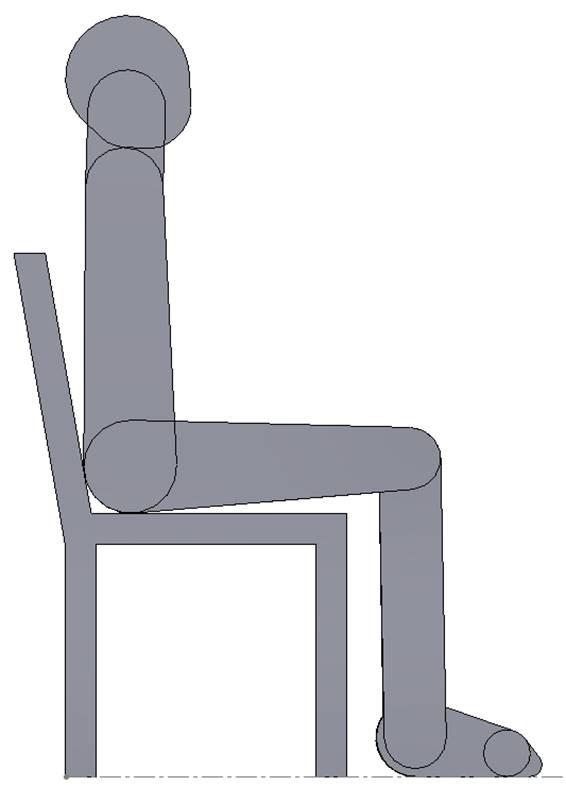 "Joe Sitting in ""Standard"" Chair"